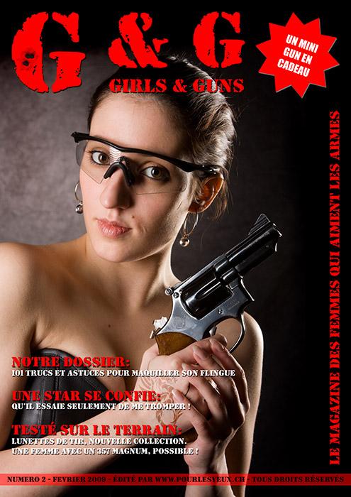 Pastiche. Faux journal sur un thème girls and guns -  - www.pourlesyeux.ch