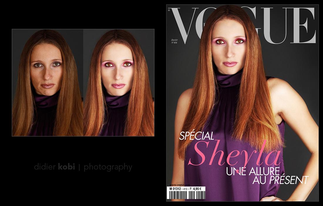 annuaire photographes suisse romande, Création d'une fausse couverture de magazine + retouche beauté - www.aramintastudio.com - Studio Araminta de Bussigny