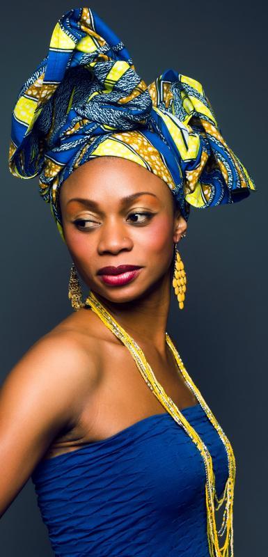 Mélos :  Turban avec Pagne Africain, ns:Chloé Lambert, annuaire photo modele