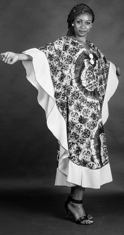 Mélos :  Robe en Pagne Africain, ns:Natalia Mansano, annuaire photo modele